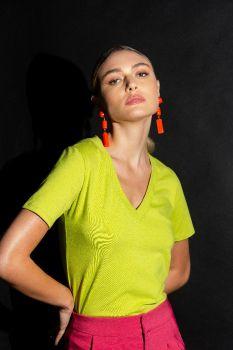Blusa Essencial Joy Verde Lima