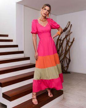 Vestido Tricolor Gisele